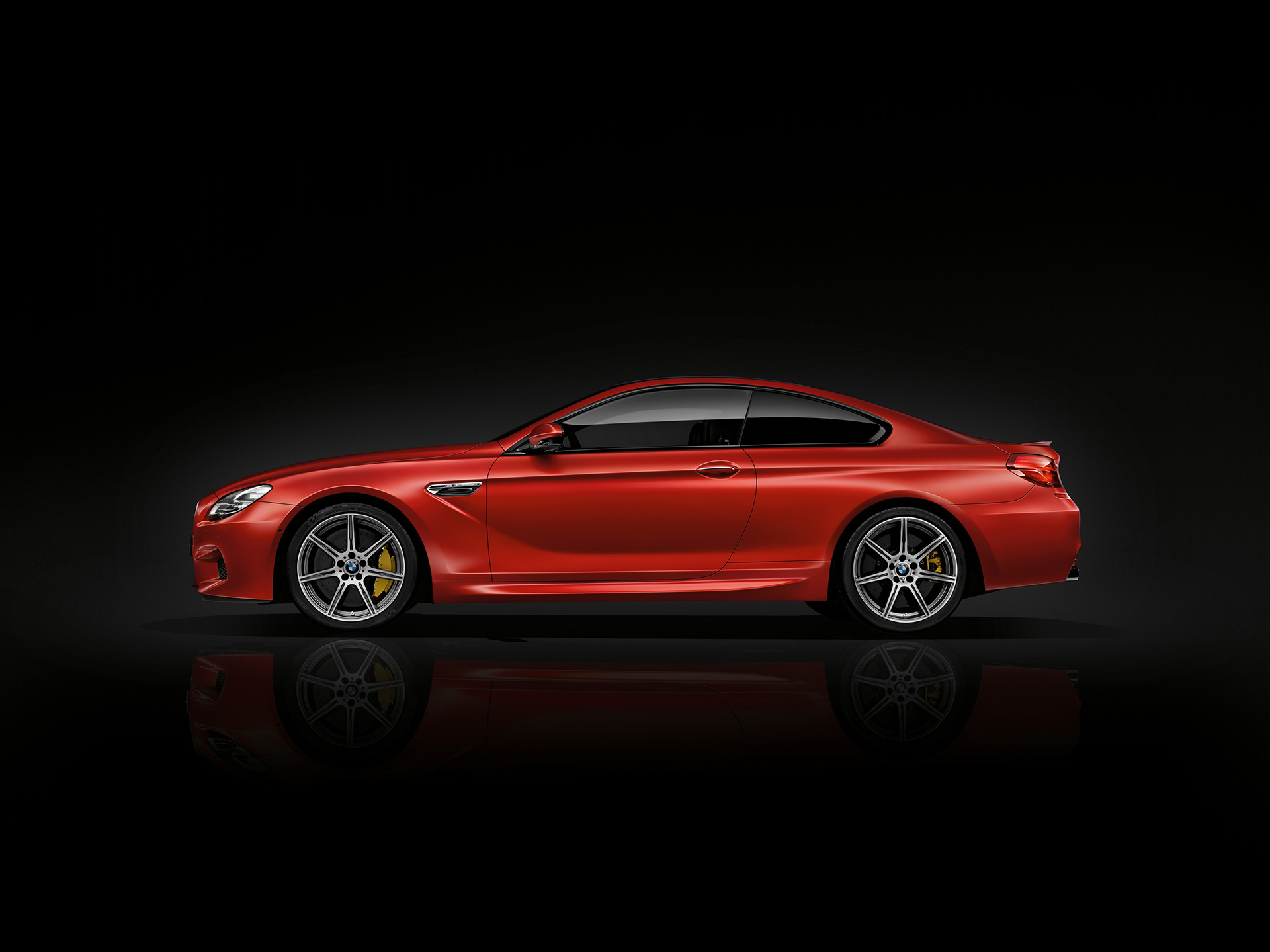 BMW M6 coupé 2015 - side-face / profil