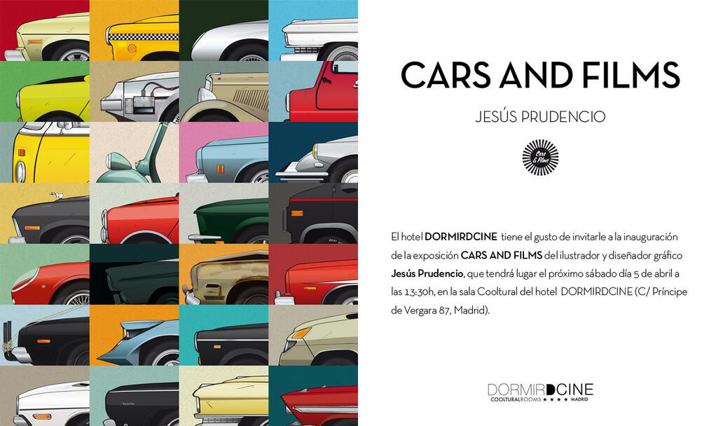 Cars and films - Illustrations by Jesús Prudencio