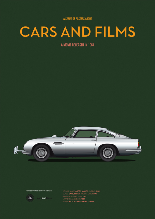 Cars and films - James Bond Goldfinger
