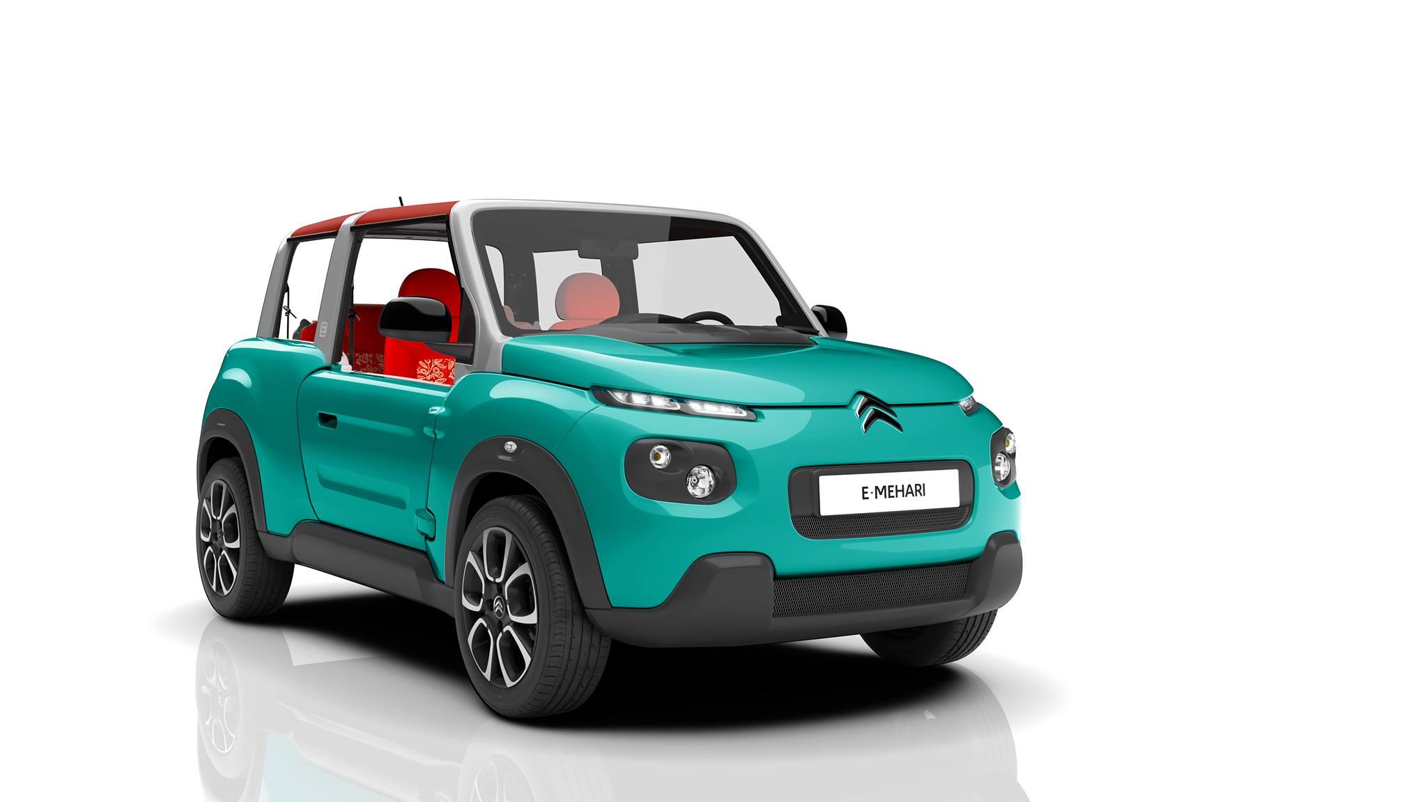 Citroën E-MEHARI - 2016 - profil avant / front side-face