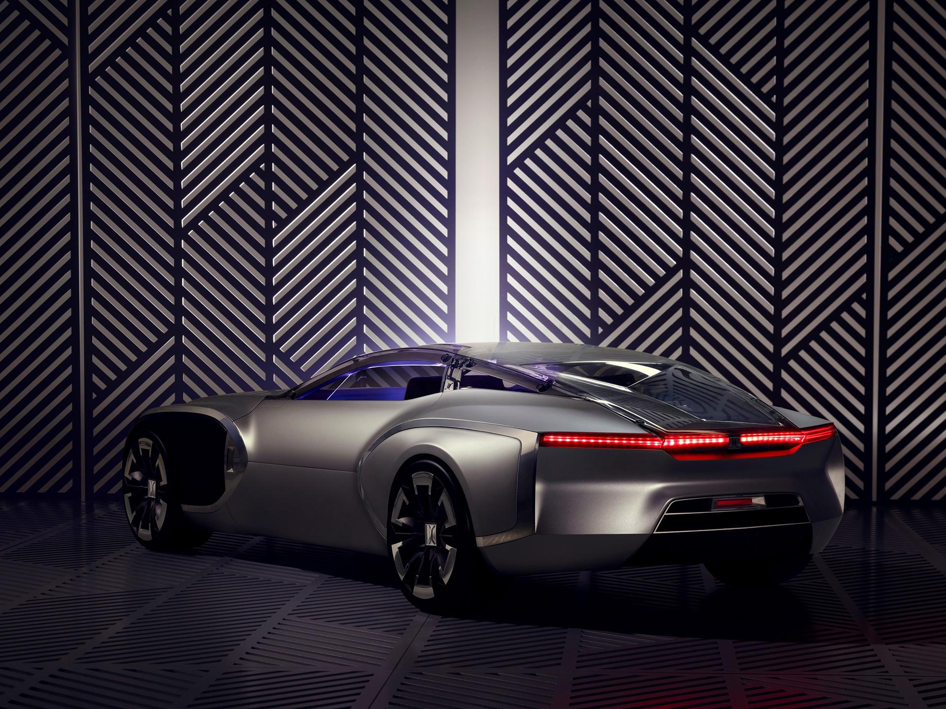Coupé Corbusier Concept - 2015 - profil arrière / rear side-face - Design Groupe Renault