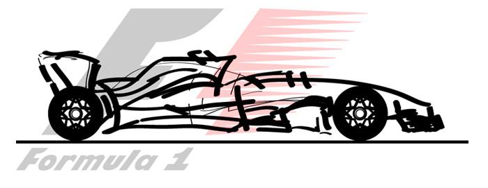 Monoplace F1 - dessin ELJ