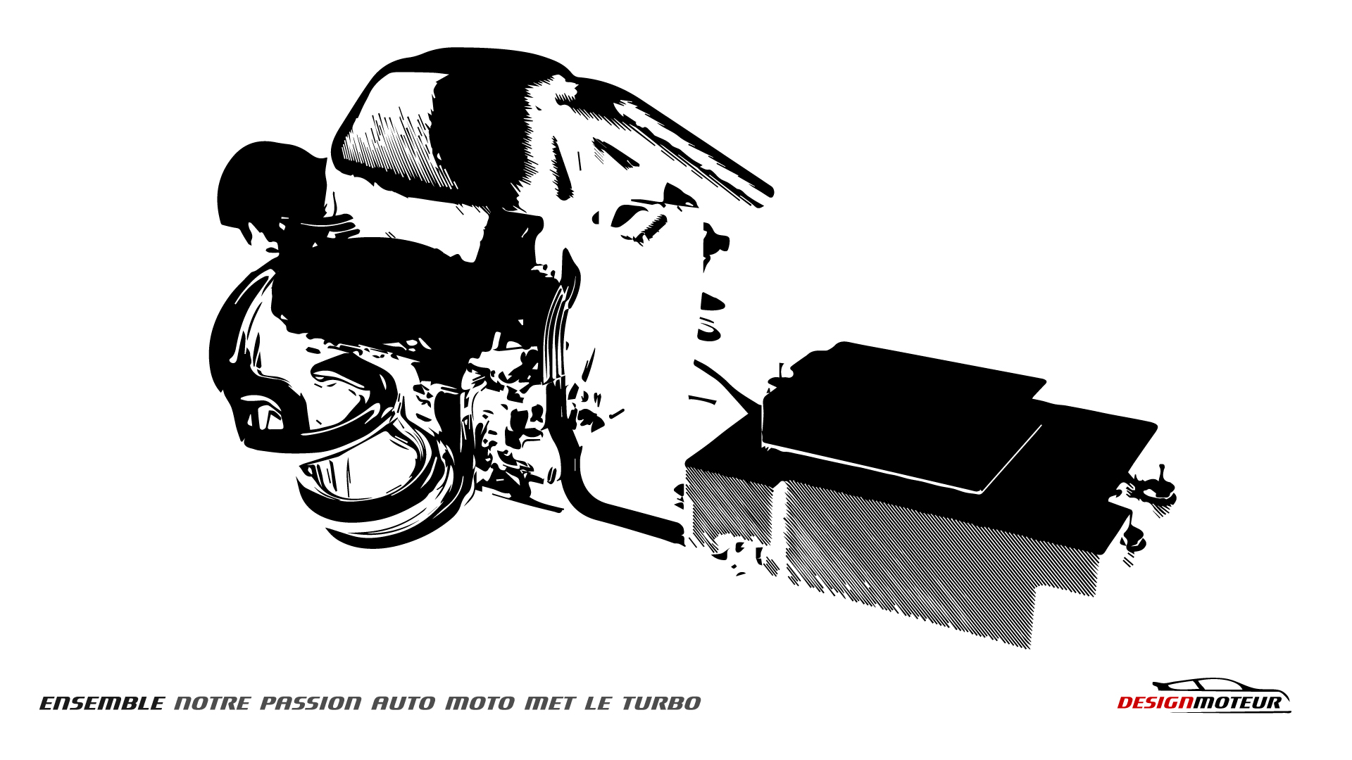 Wallpaper DESIGNMOTEUR 2014 - F1 POWER UNIT