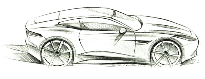 L 39 l gance du f lin et du dessin jaguar the f type coup for Plans de dessins de porche