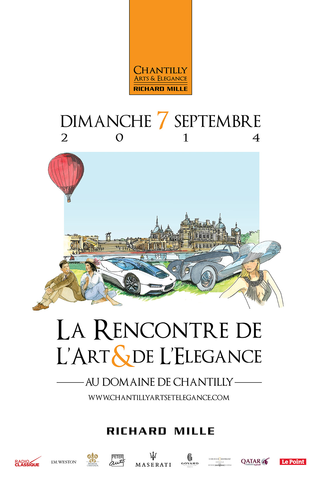 Affiche - Chantilly Arts et Elégance - 2014