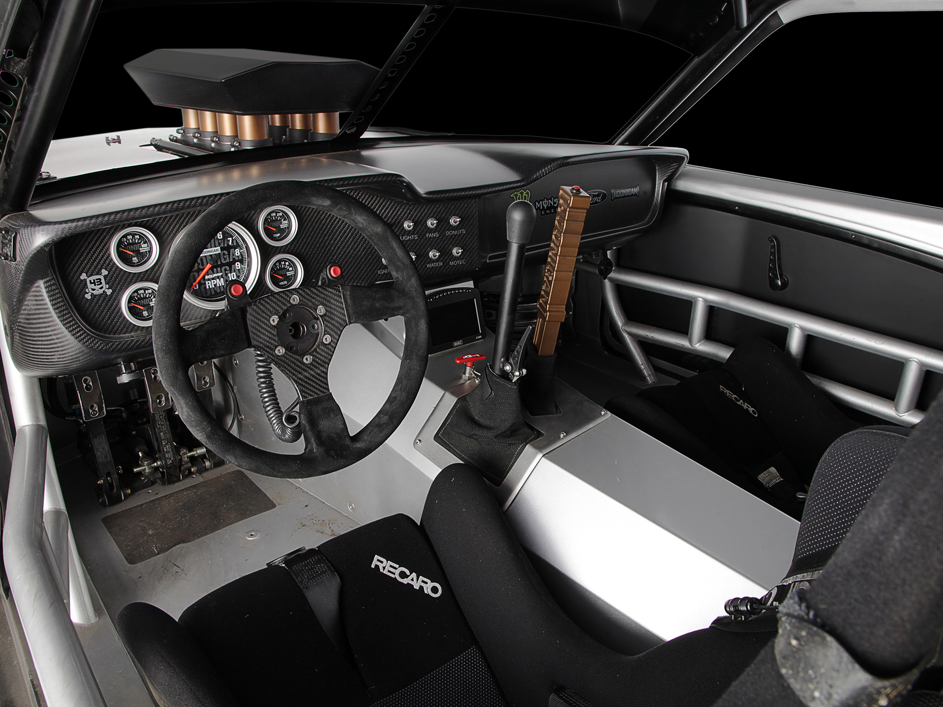 1965 mustang hoonicorn for ken block build in 2015 at asd for Interieur tuning auto