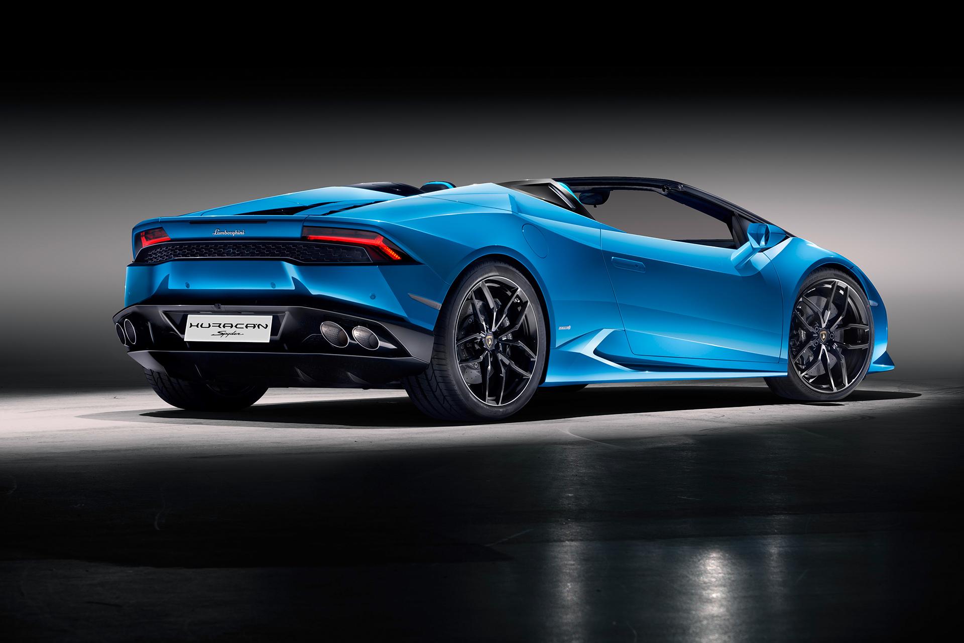 Lamborghini Huracán LP 610-4 Spyder - profil arrière / rear side-face