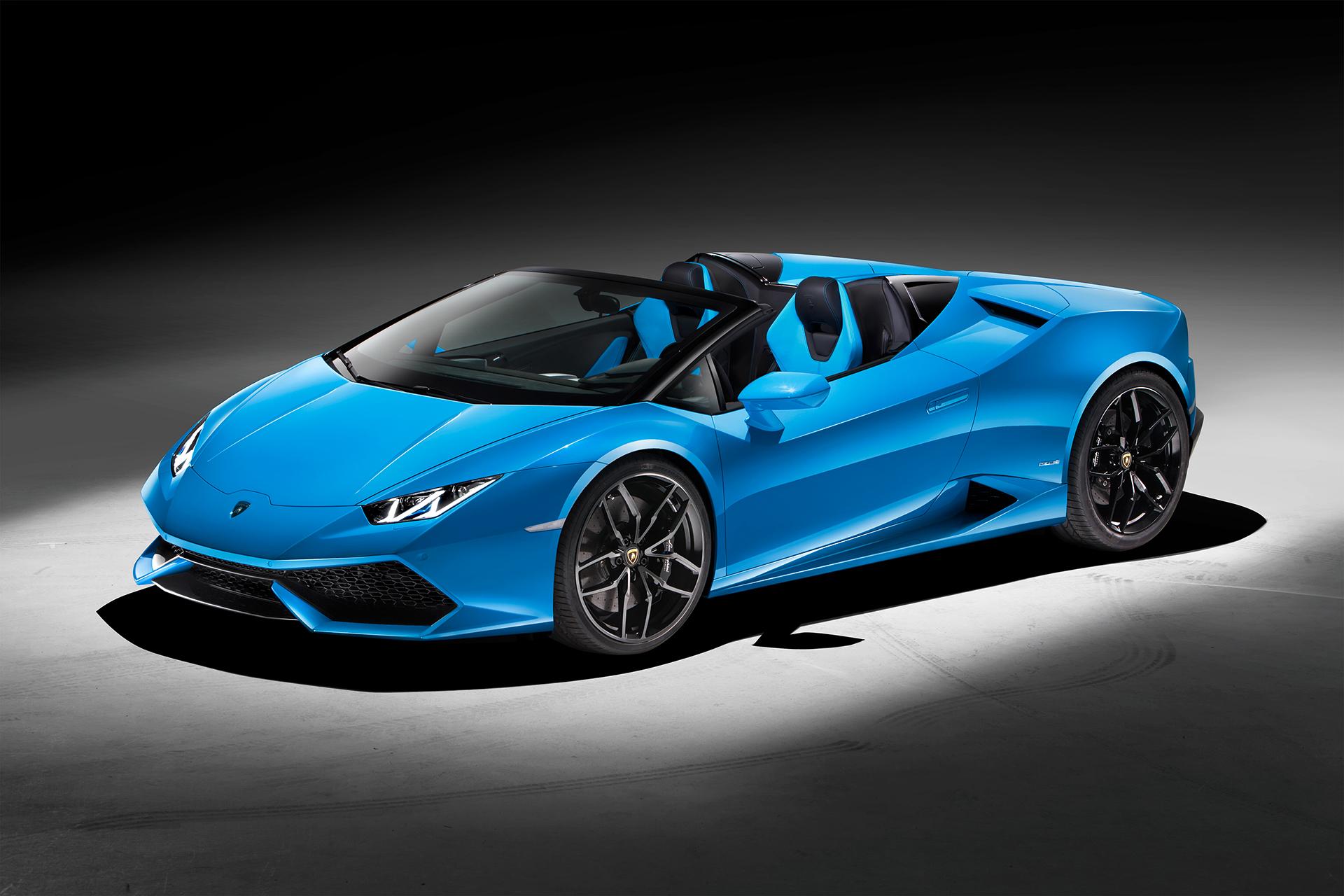 Lamborghini Huracán LP 610-4 Spyder - profil avant / front side-face