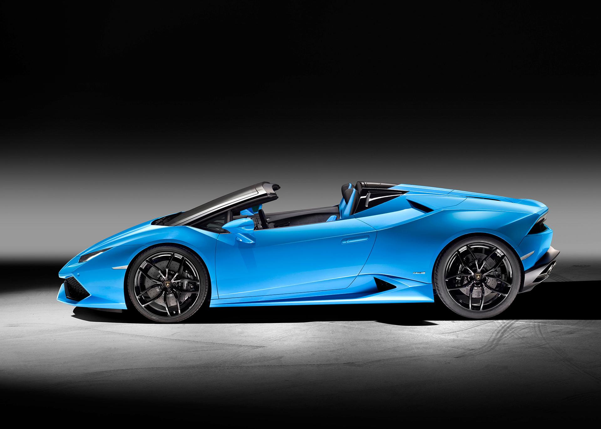 Lamborghini Huracán LP 610-4 Spyder - profil toit ouvert / side-face open top