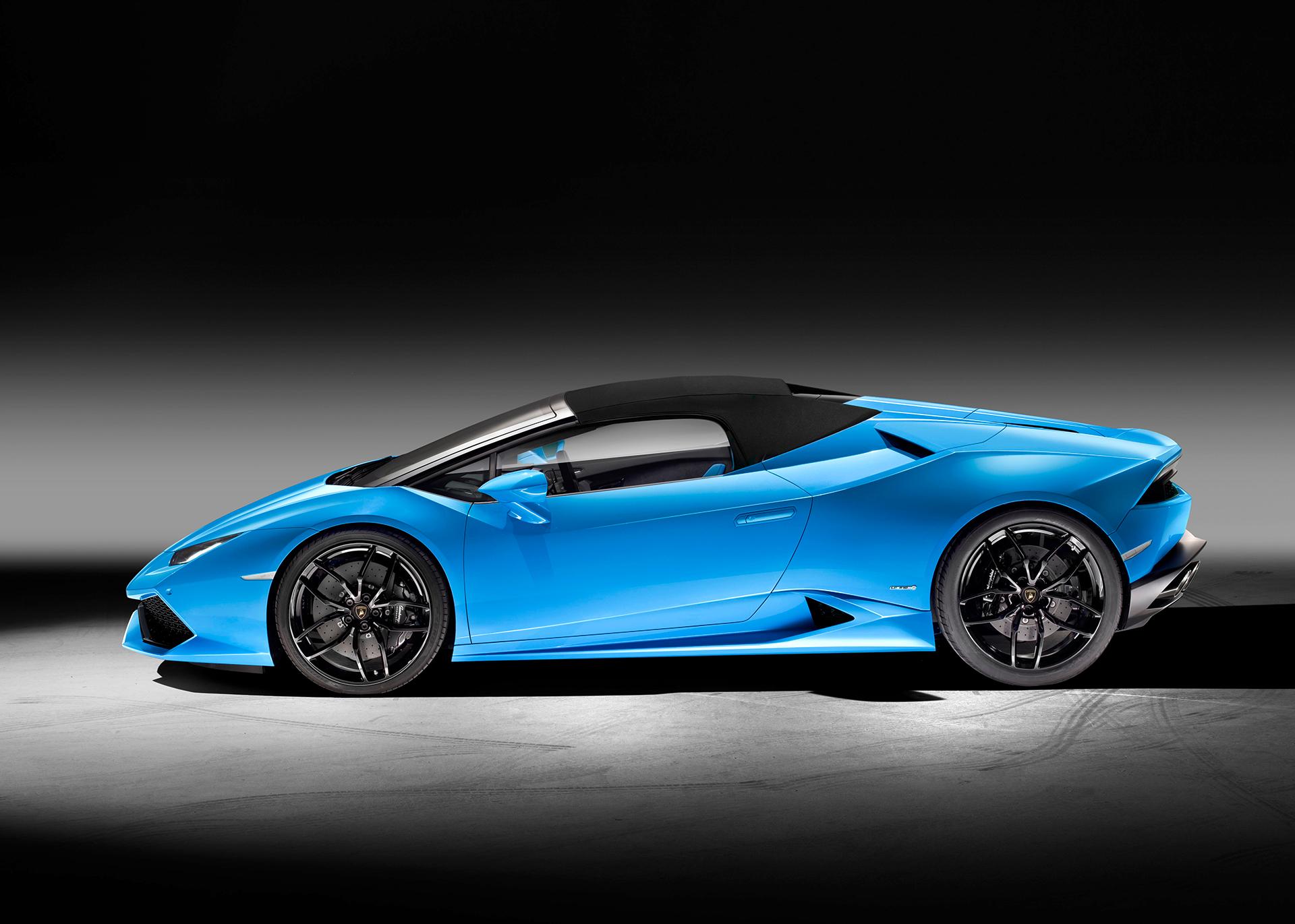 Lamborghini Huracán LP 610-4 Spyder - profil toit fermé / side-face close top