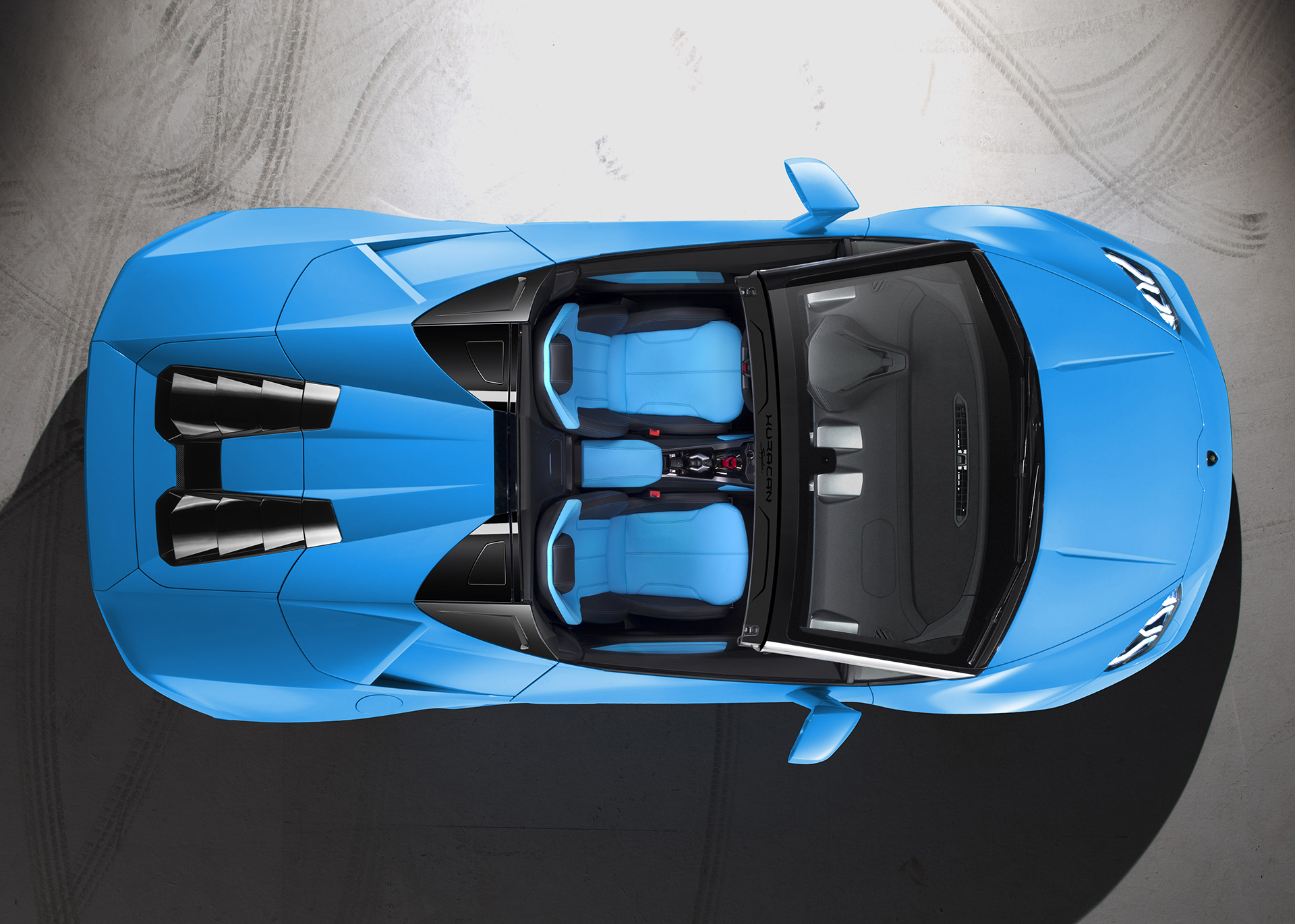 Lamborghini Huracán LP 610-4 Spyder - vue de haut / top view