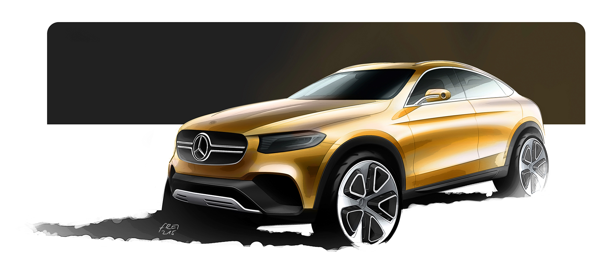 Mercedes-Benz Concept GLC Coupe - sketch - avant / front