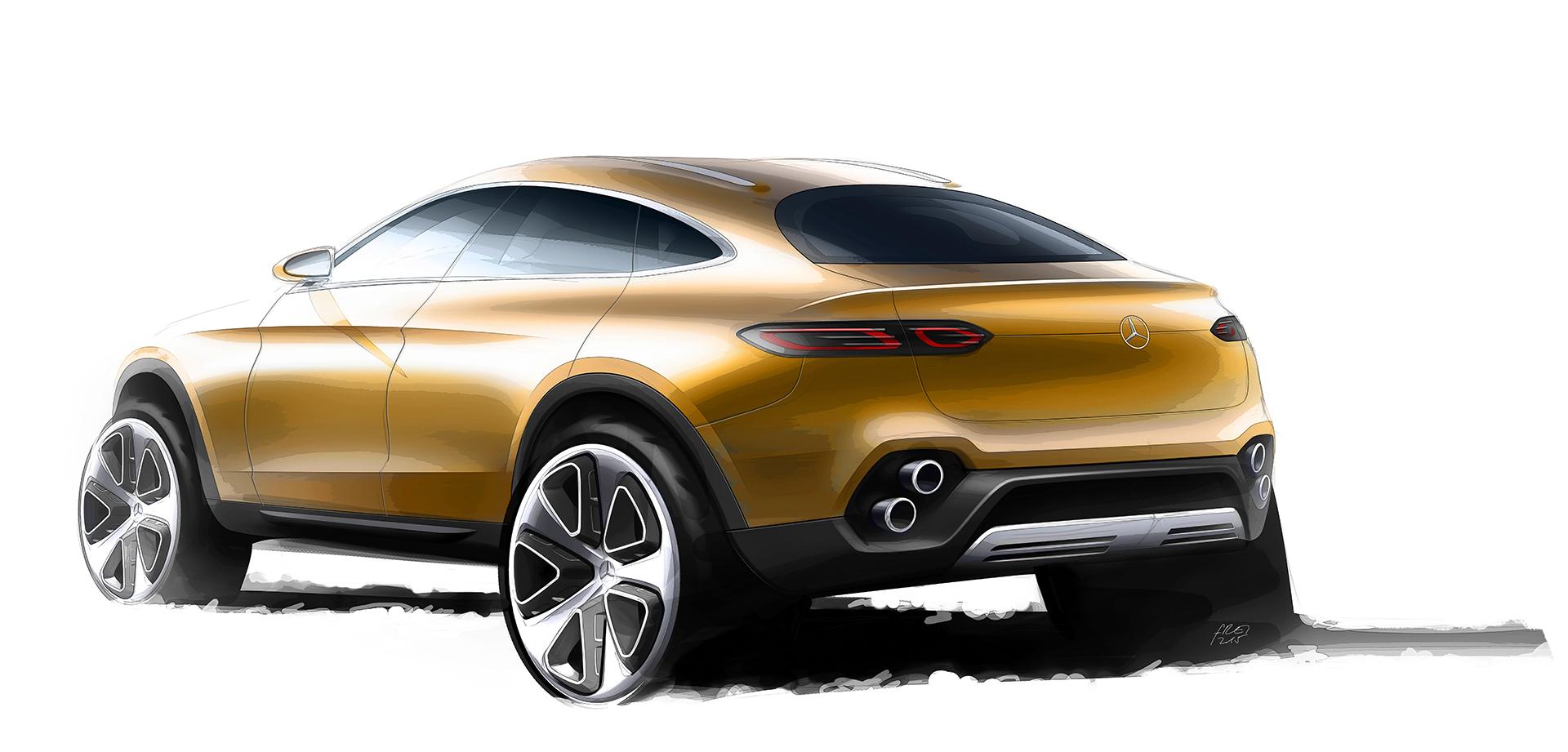 Mercedes-Benz Concept GLC Coupe - sketch - arrière / rear