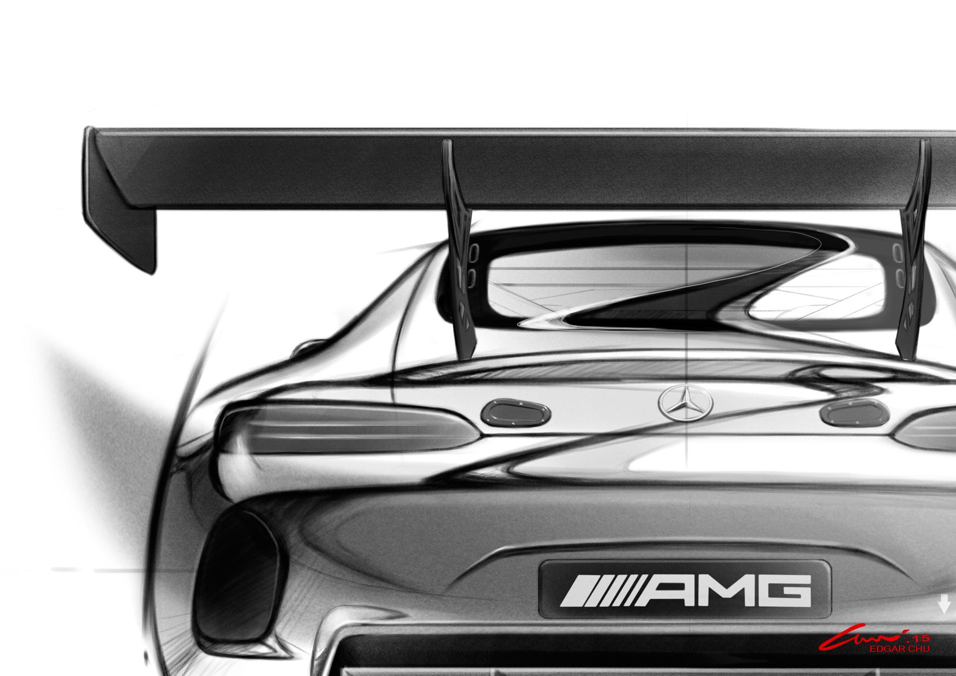 Mercedes-AMG GT3 - teaser - sketch - arrière