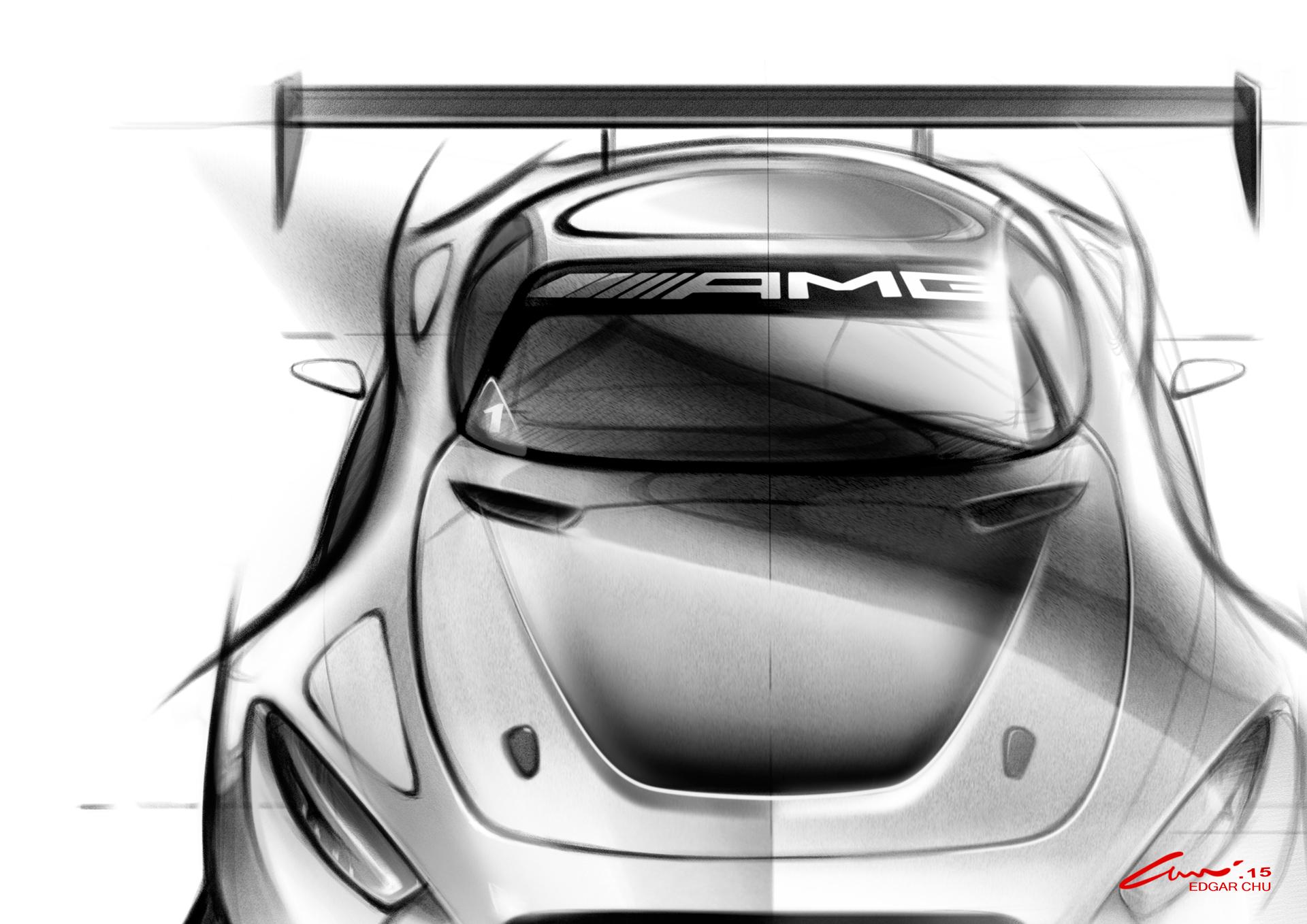 Mercedes-AMG GT3 - teaser - sketch - avant