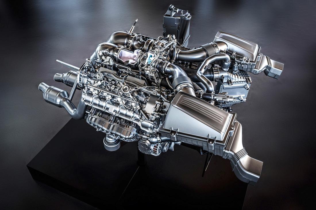 Moteur V8 4.0 litres biturbo - Mercedes-Benz AMG