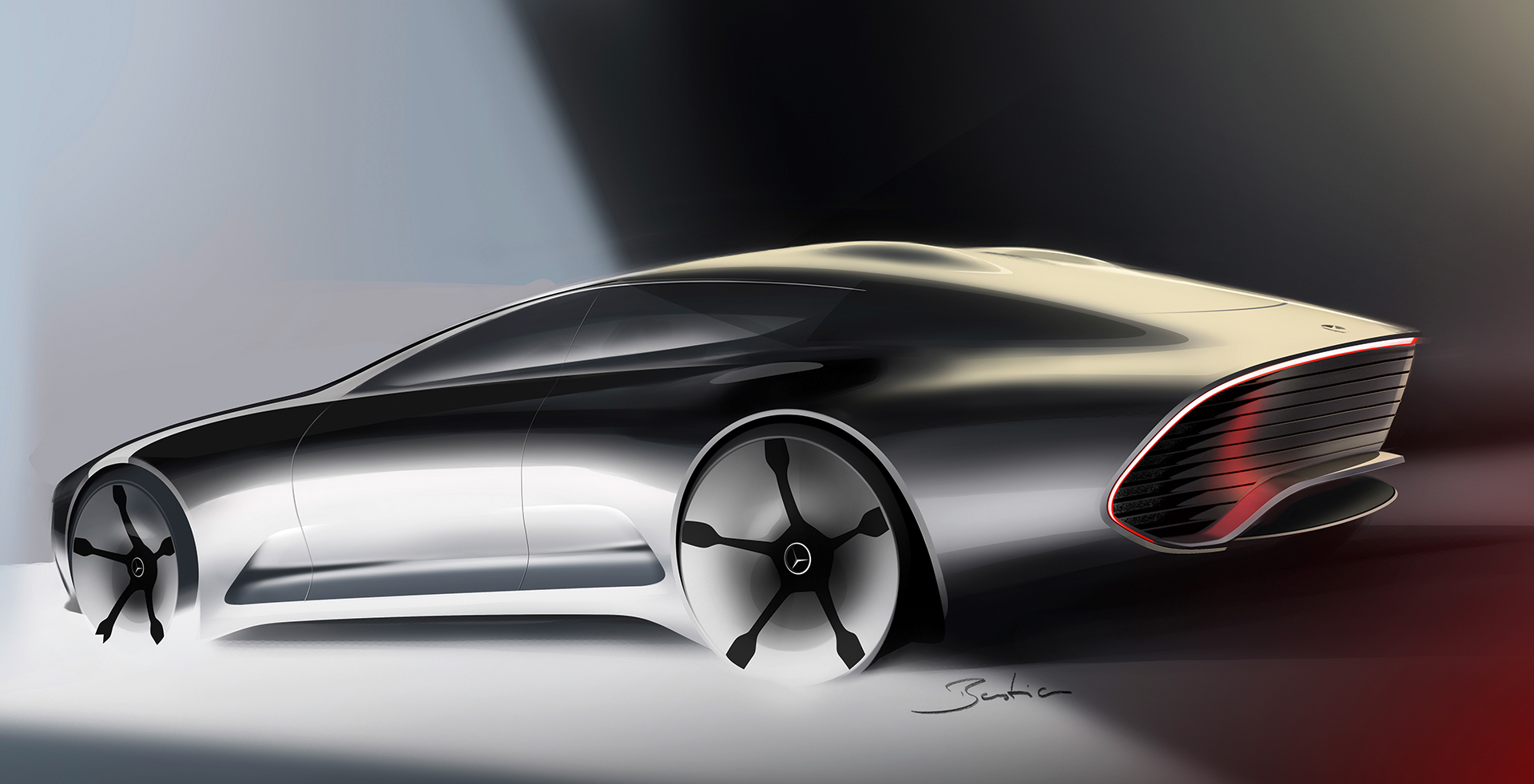 Mercedes-Benz Concept IAA - sketch rear design / sketch design arrière