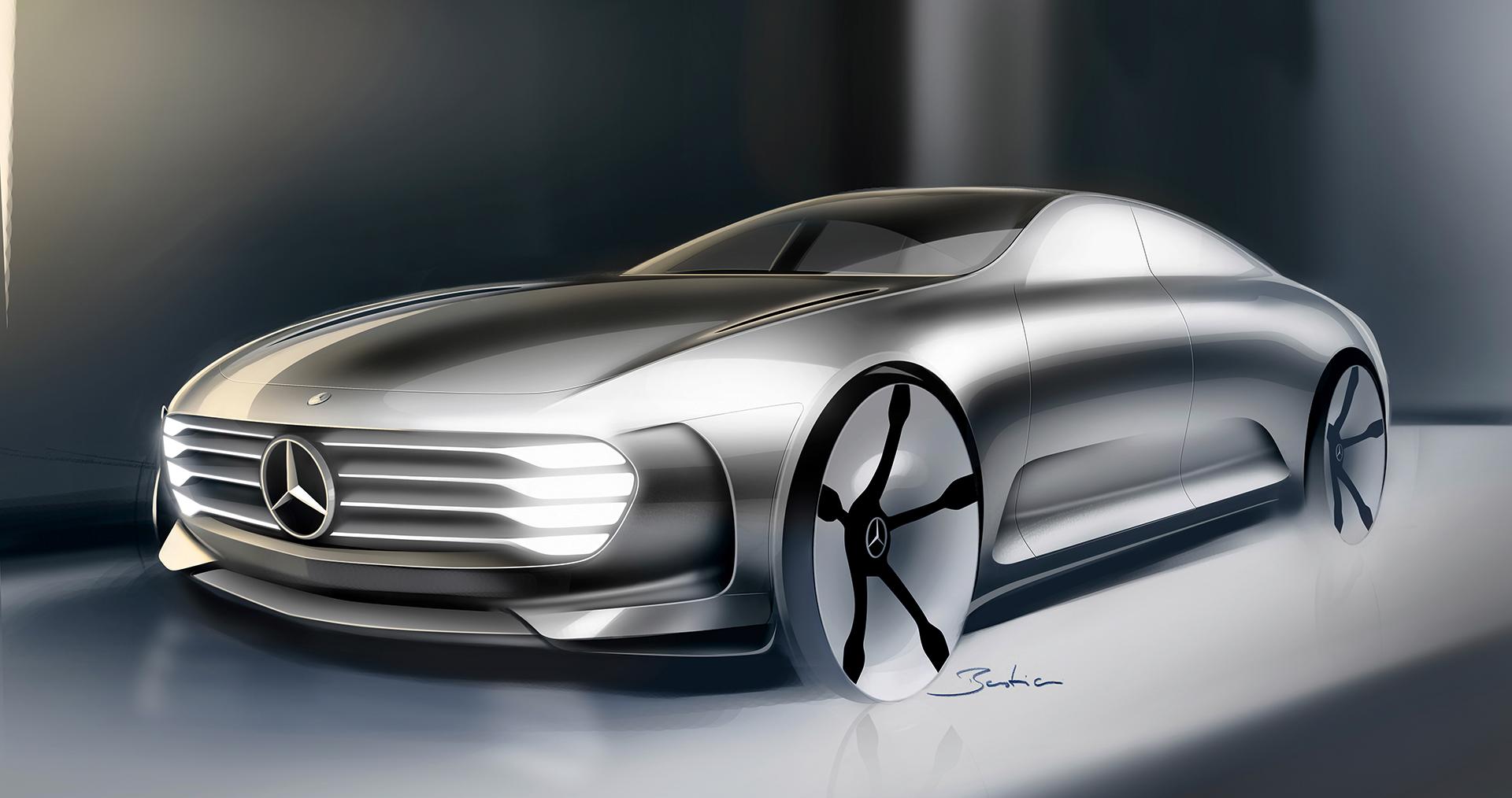 Mercedes-Benz Concept IAA - sketch front design / sketch design avant
