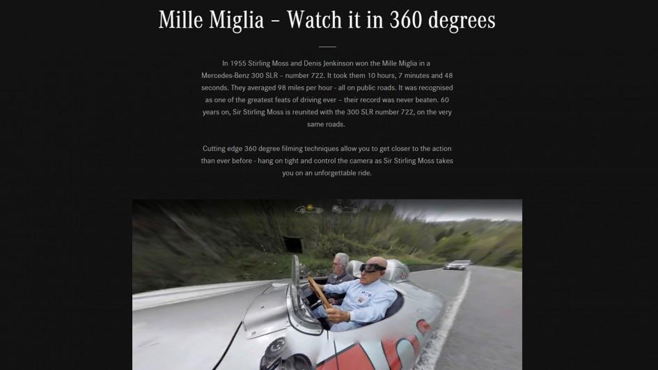 Mercedes-Benz 300 SLR - number 722 - onboard Mille Miglia 2015