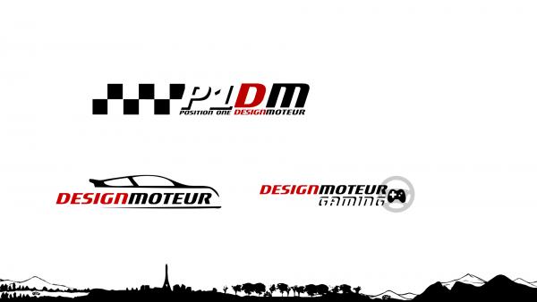 Logotype P1 DM, Logotype DESIGNMOTEUR, Logotype DESIGNMOTEUR Gaming