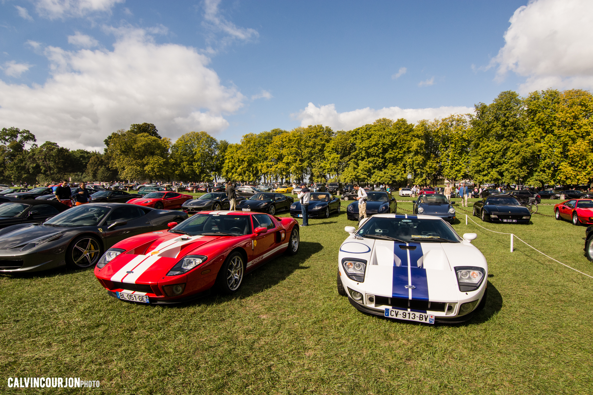 parking Ford GT - Chantilly 2015 – photo Calvin Courjon
