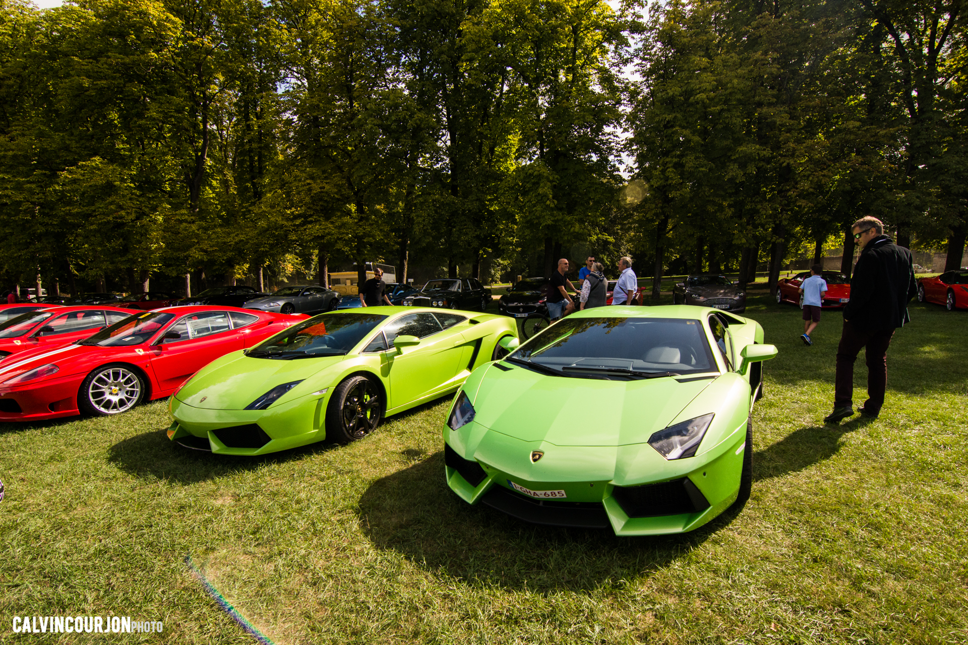 parking Lamborghini - Chantilly 2015 – photo Calvin Courjon