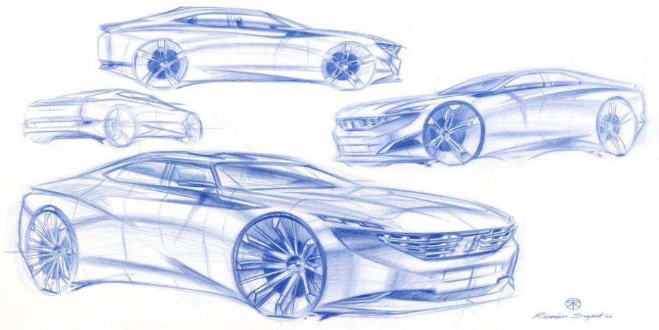 Dessin - Peugeot Exalt Concept