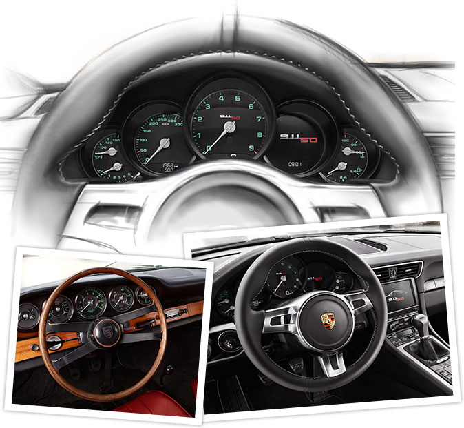 Porsche 911 50 ans Intérieur