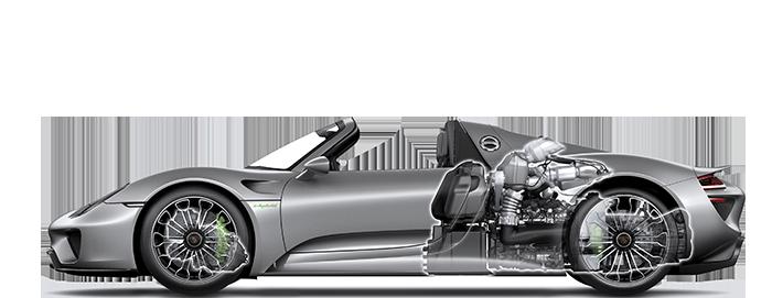 Porsche 918 Spyder moteurs