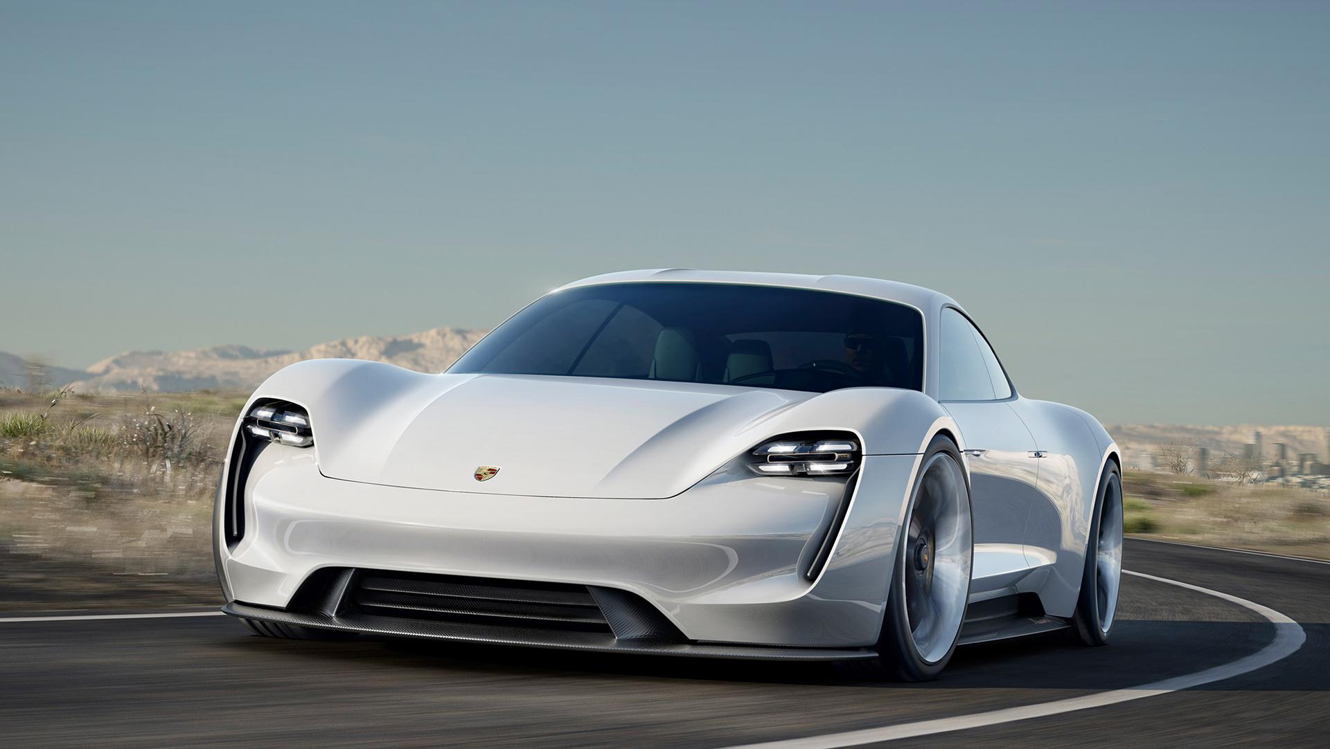 Porsche Mission E concept - front / avant