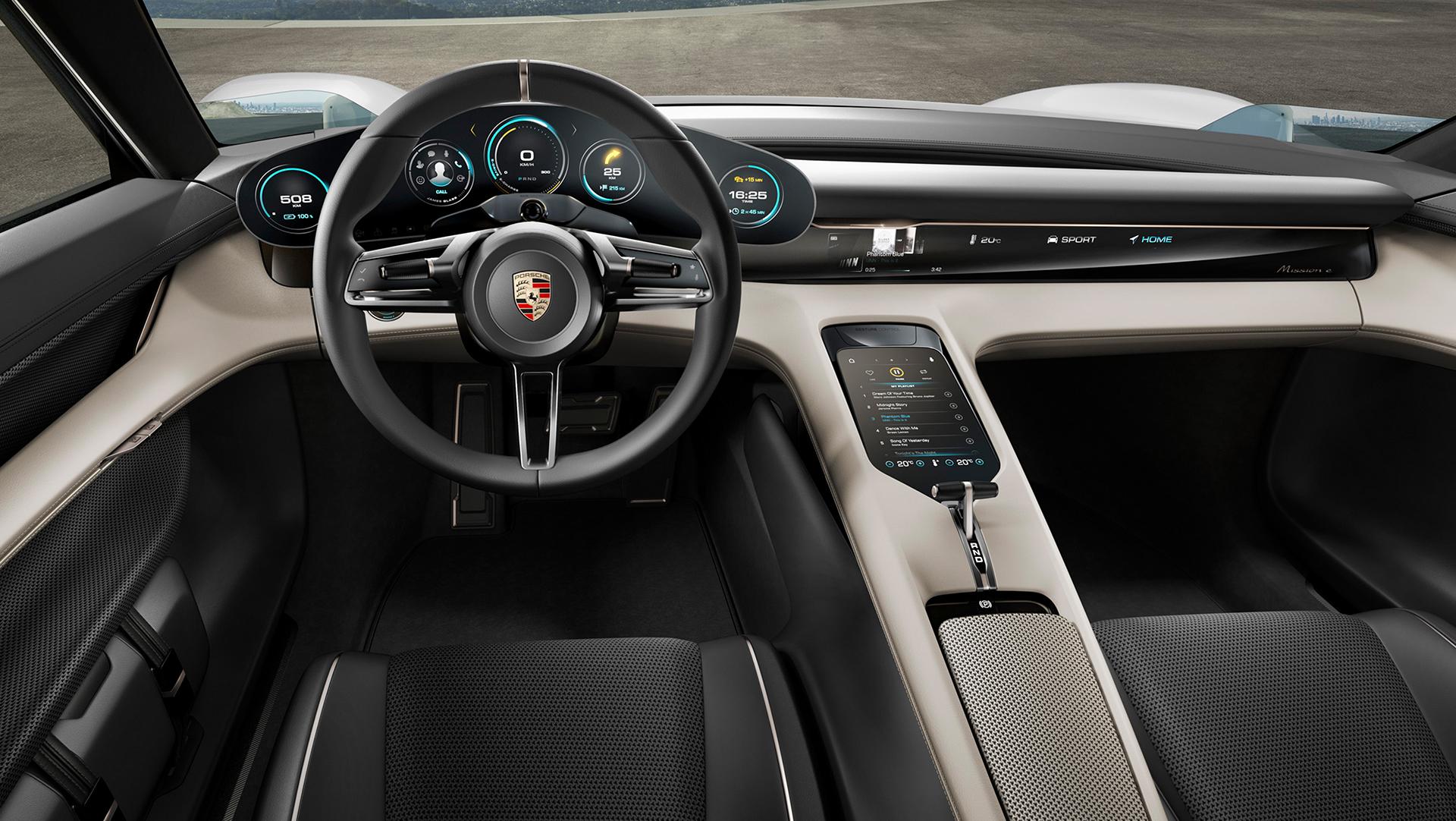 Porsche Mission E concept - interior / intérieur