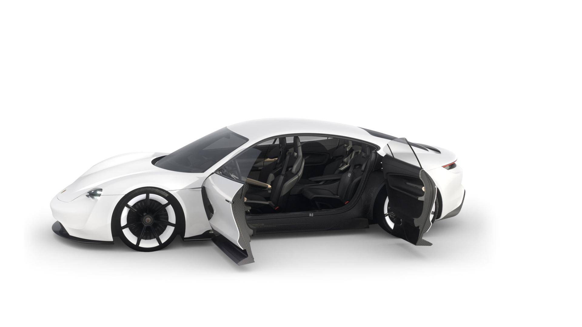 Porsche Mission E concept - doors / portes
