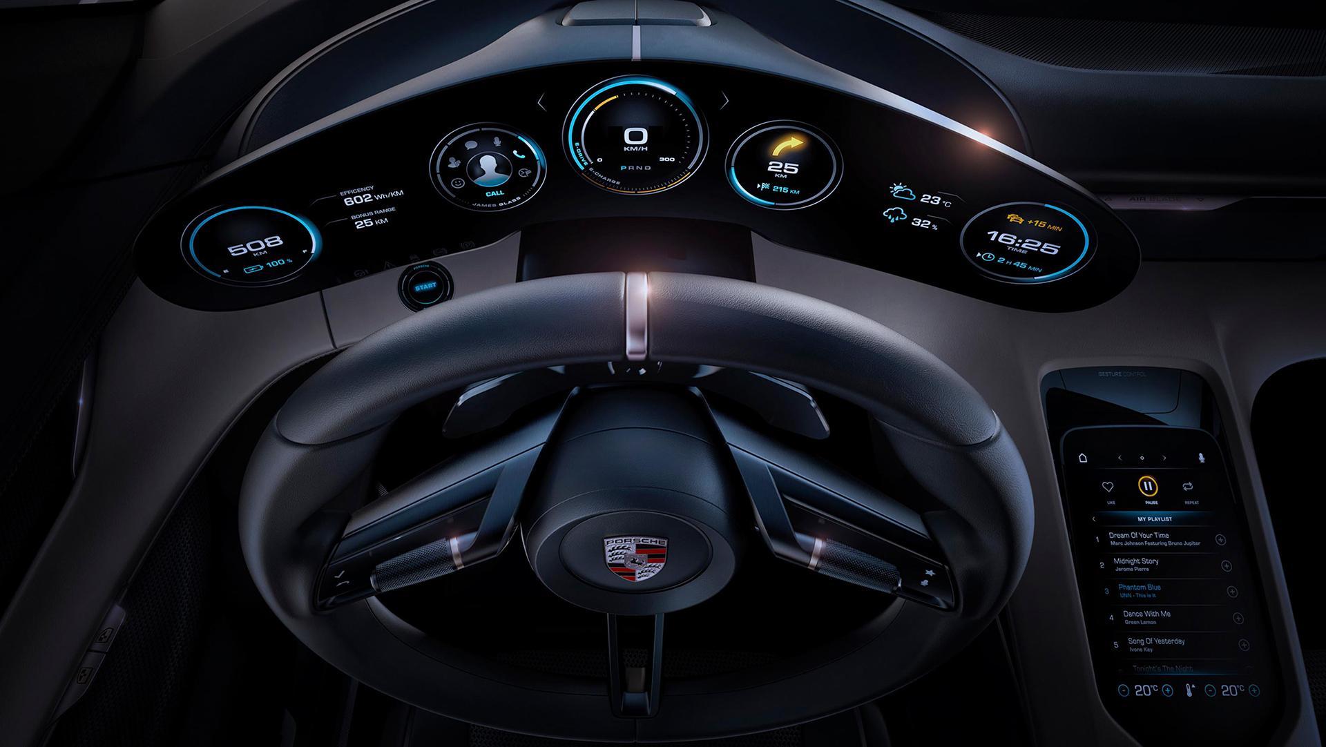 Porsche Mission E concept - drive wheel / volant