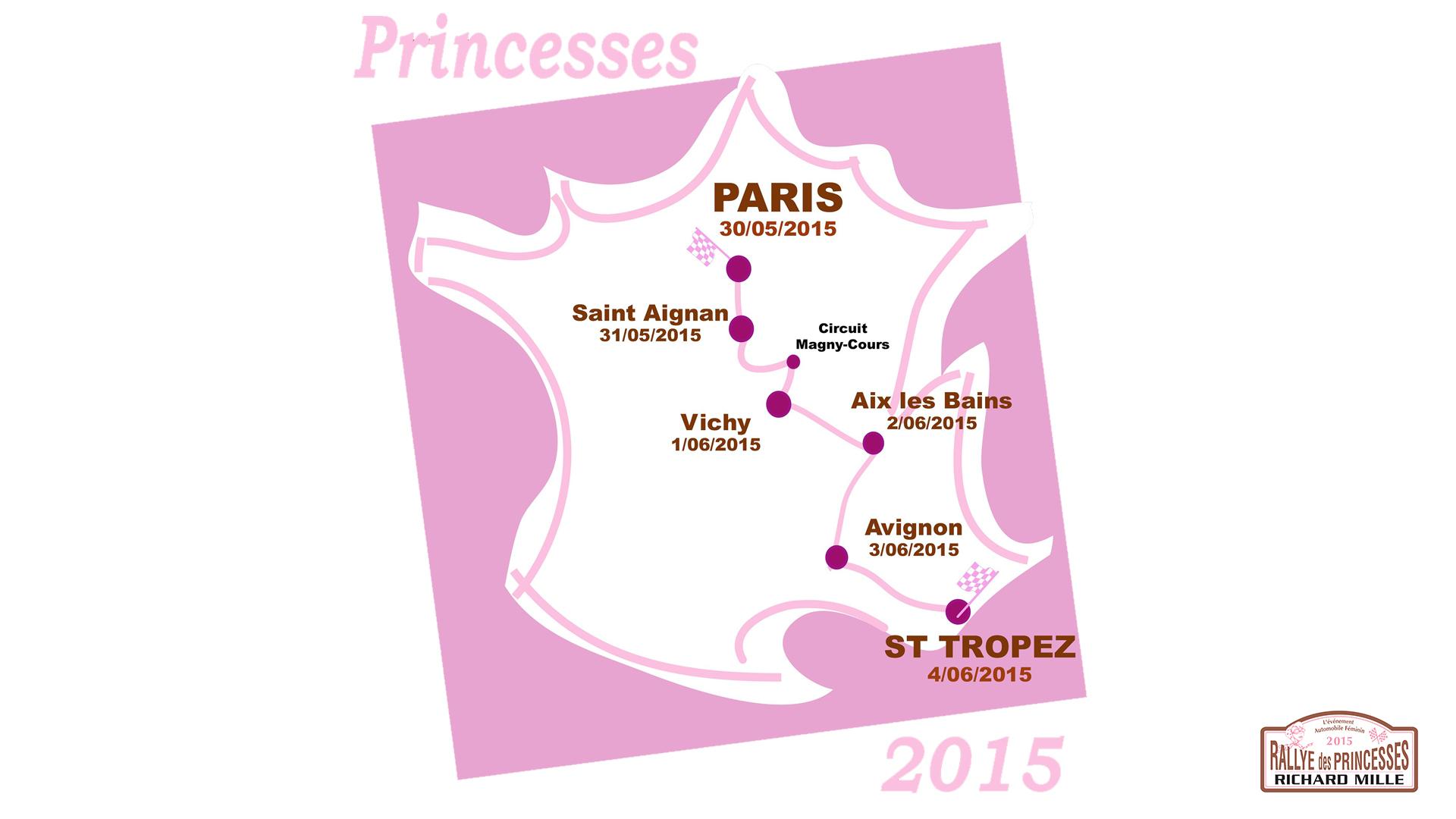 Rallye des Princesses - parcours 2015