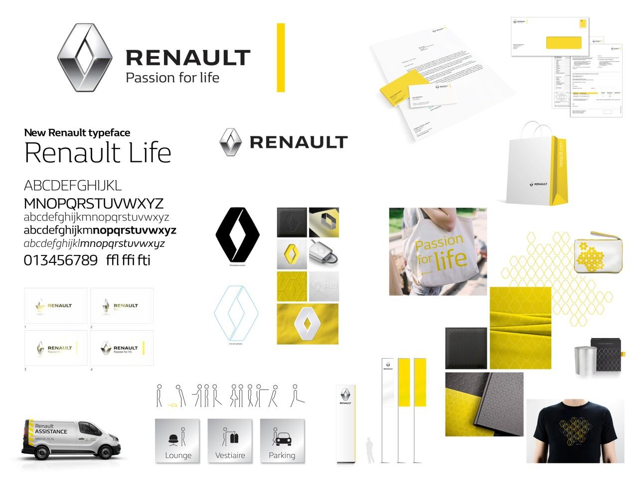 Nouvel univers de marque du constructeur Renault