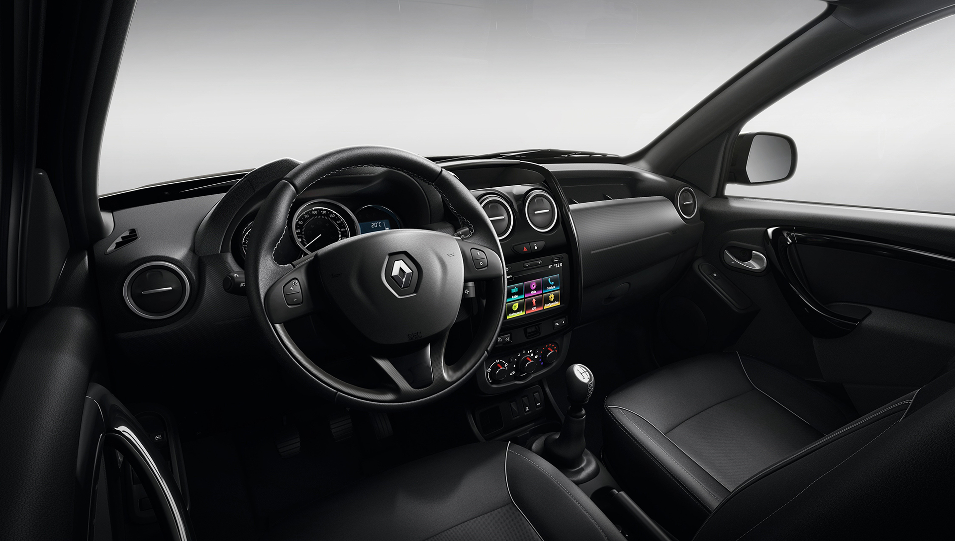 Renault Duster Oroch Pickup - front interior / intérieur avant