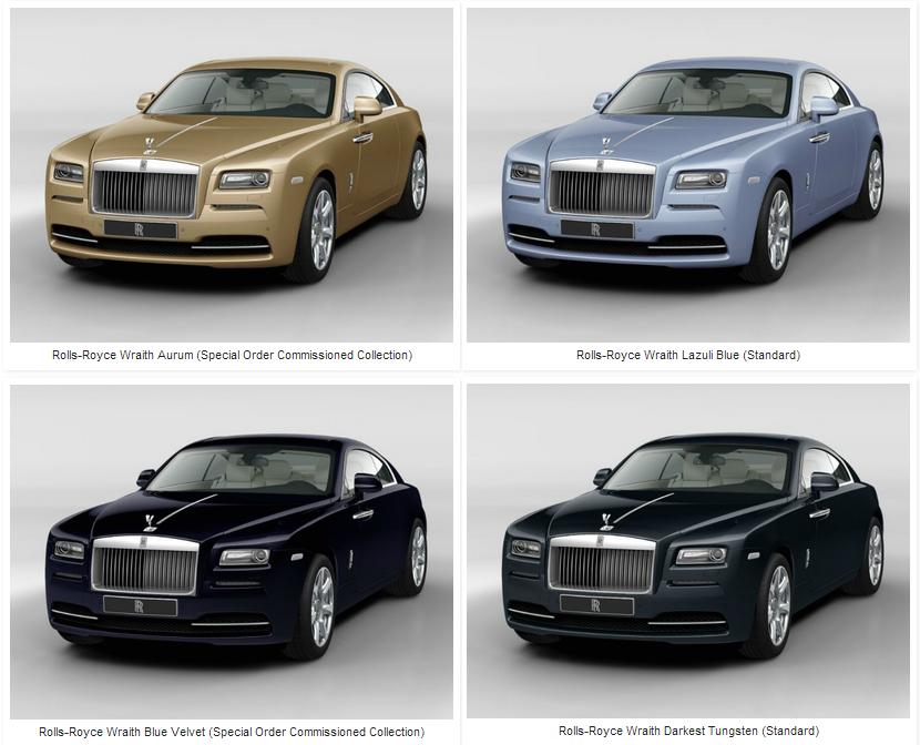 Rolls Royce Wraith - TEINTES
