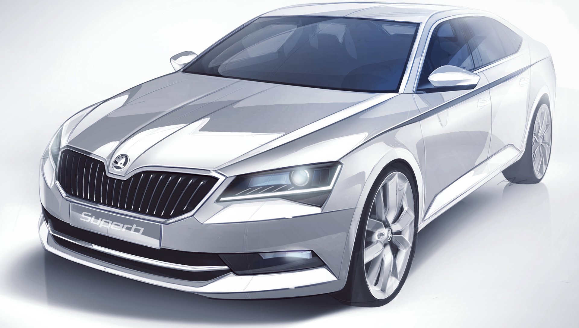 Škoda Superb 2015 - sketch design avant