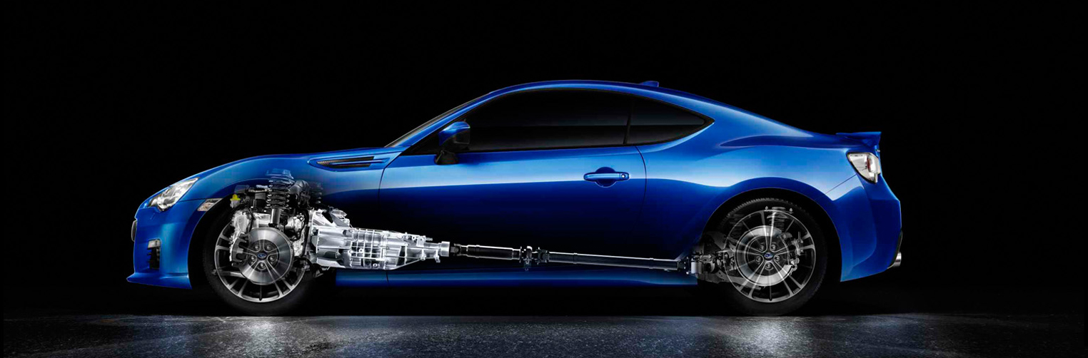 Subaru BRZ STI Performance Concept - side face with engine / profil avec motorisation