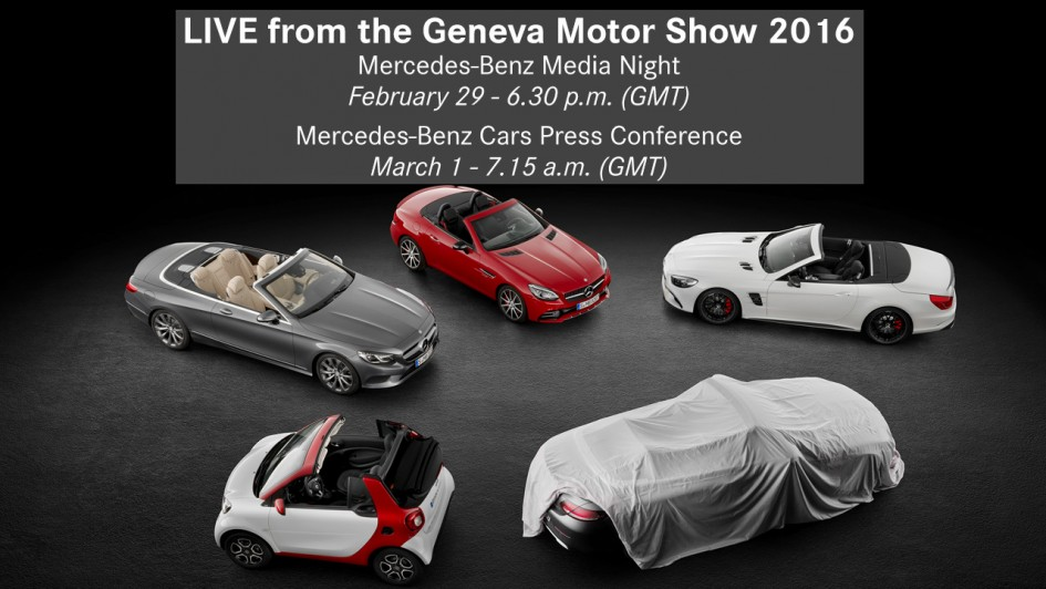 Mercedes-Benz Media Night - Geneva 2016 - teaser
