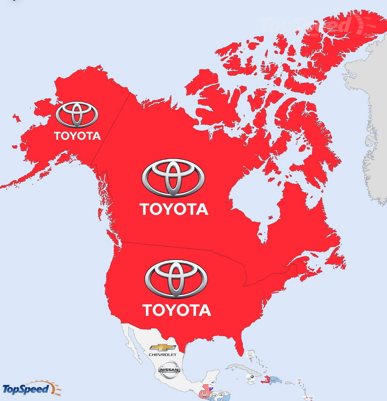 North America - The World's Most Searched Car Brands: Infographic Pictures - TopSpeed