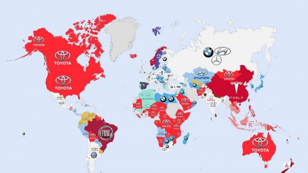 World - The World's Most Searched Car Brands: Infographic Pictures - TopSpeed