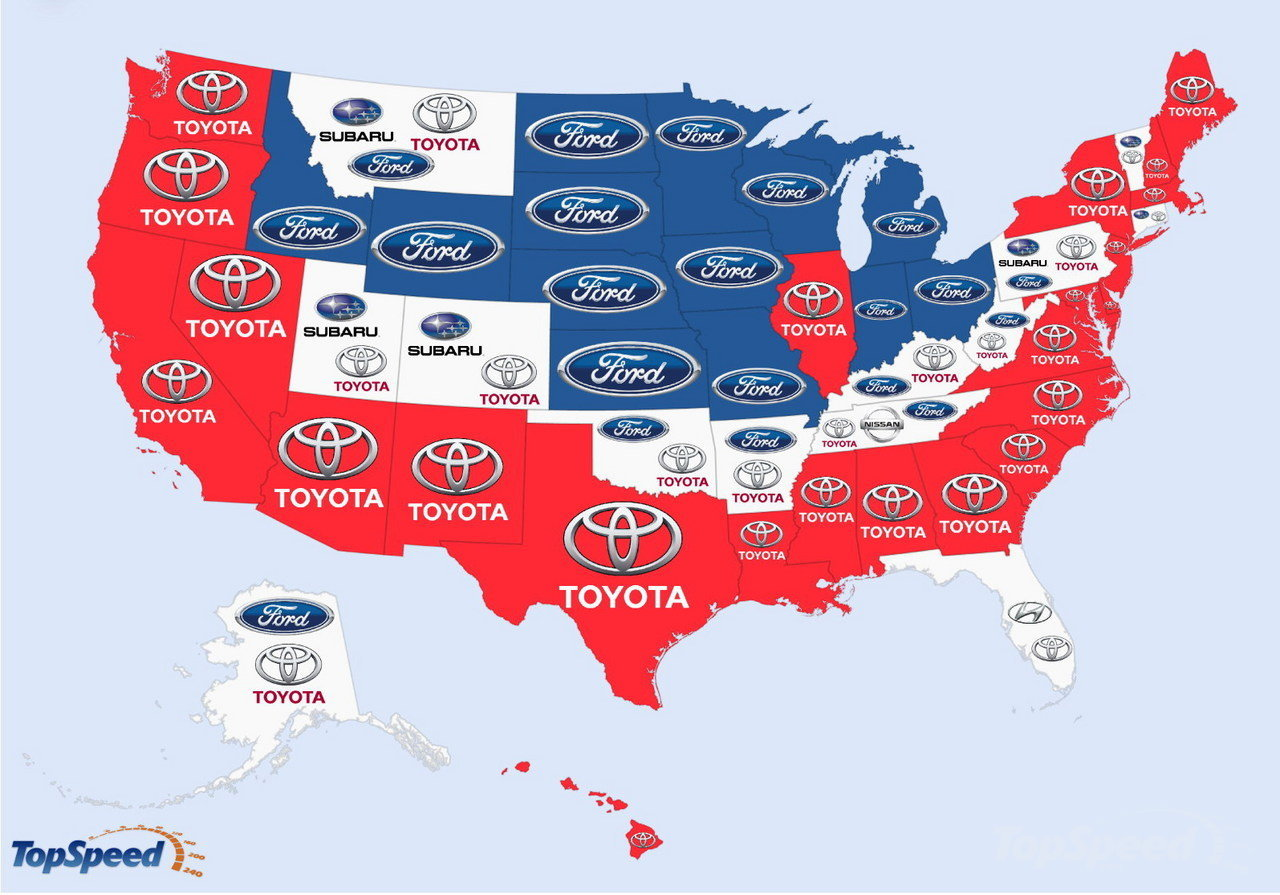 USA - The World's Most Searched Car Brands: Infographic Pictures - TopSpeed