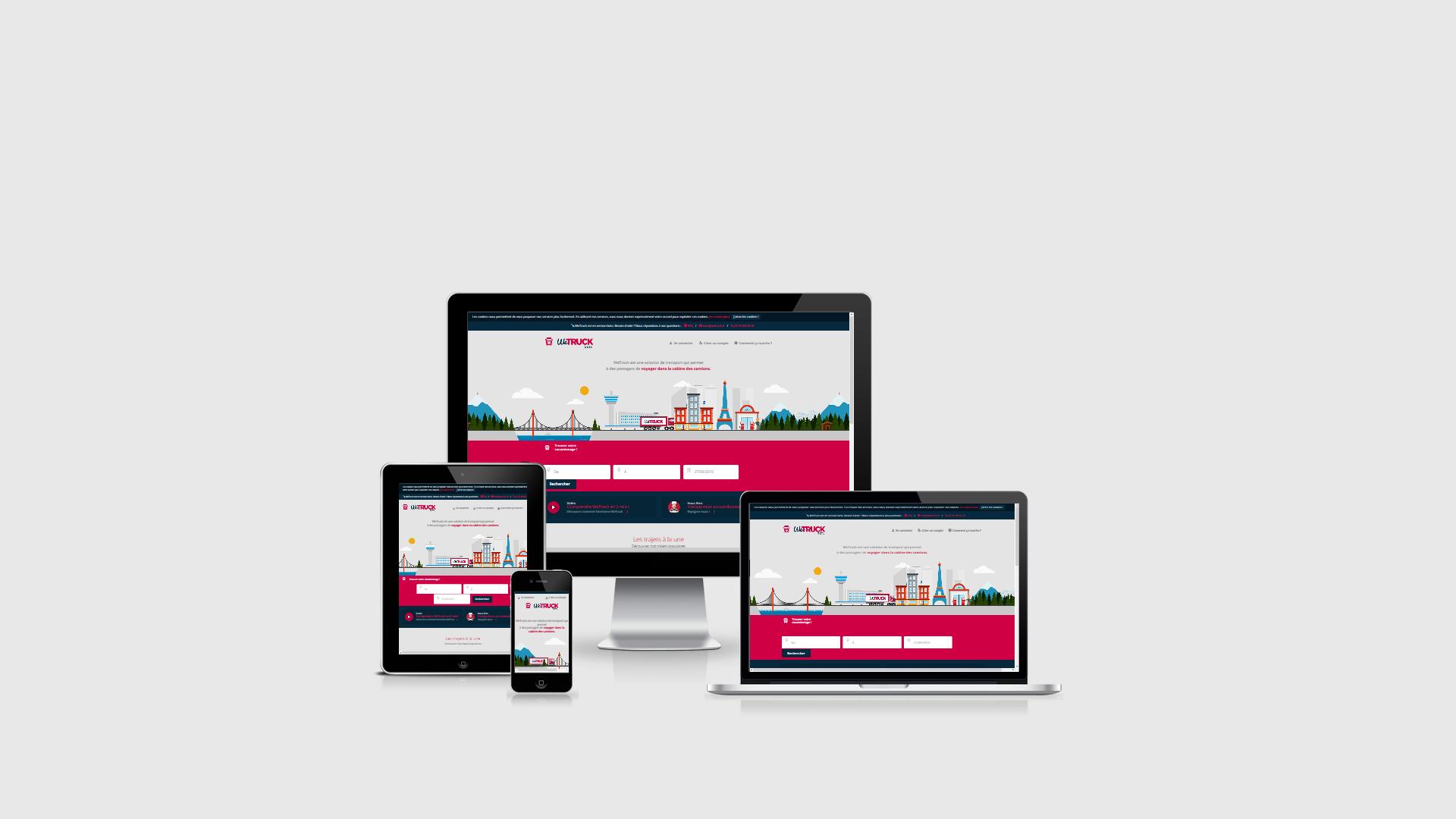 WeTruck - Responsive Web Design